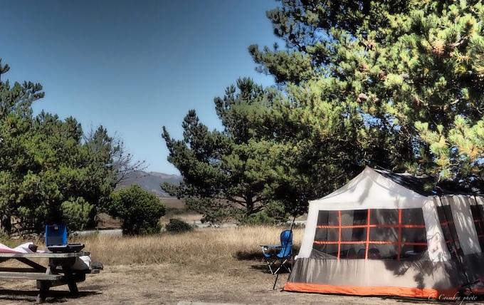 Camping at San Simeon