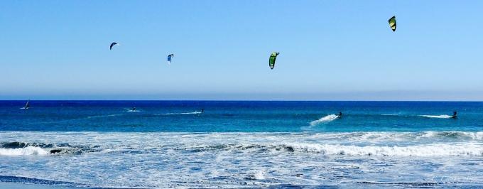 Blue Windsurfers