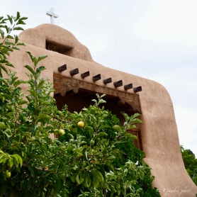 Mission church that anchors the old Abiquiu plaza